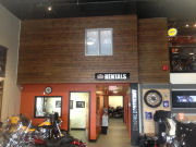 Douglas Fir T&G Clear and Select Tight Knot Kamloops Harley-Davidson Feature Wall