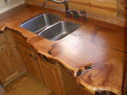 Solid Douglas Fir Counter Tops and Mantles